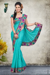 Pure-indian-chiffon-sarees-with-blouse-for-summer-for-girls-9
