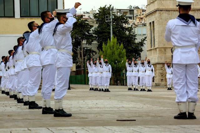 ΣΝΔ: Ορκωμοσία Πρωτοετών Ναυτικών Δοκίμων και Δοκίμων Σημαιοφόρων Λ.Σ.-ΕΛ.ΑΚΤ. (8 ΦΩΤΟ)