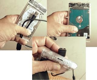 HDD SATA External Box dengan USB Slim Micro