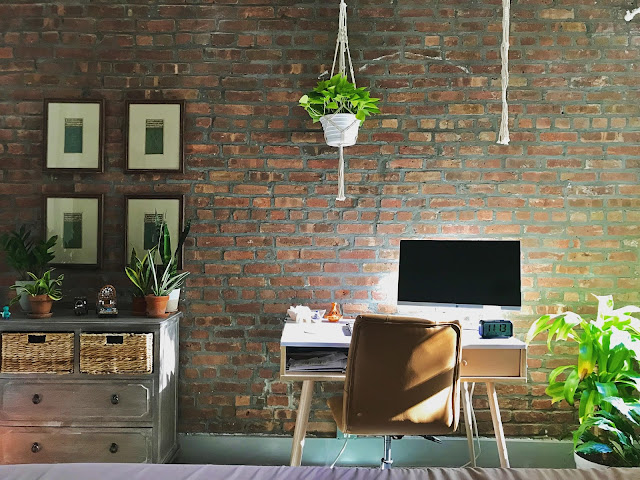 Exposed brick and perfect lighting