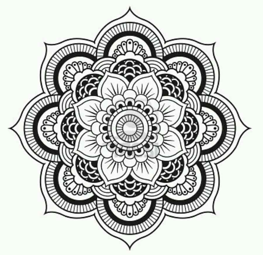 Line Drawing Mandala : Get knotted yarn craft mandela mandala