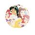 Princesas da Disney (Disney's Princesses) - Botton (#DP005) - 3,8 cm