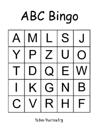 Crafty image within letter bingo printable