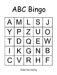 photograph about Abc Bingo Printable titled Alphabet Bingo Template. alphabet video games education good