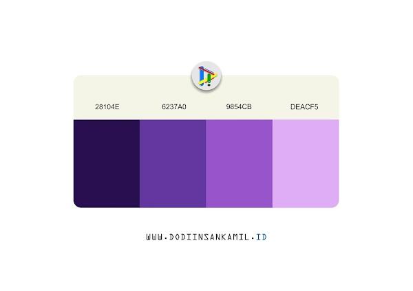 Gradasi Warna Ungu - Gradasi Warna untuk Desain