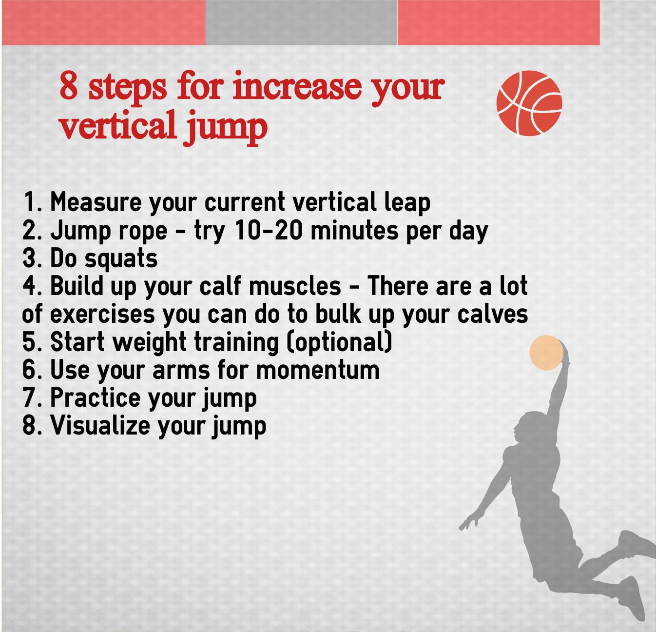 Best Vertical Jump Training 8 weeks in basketball