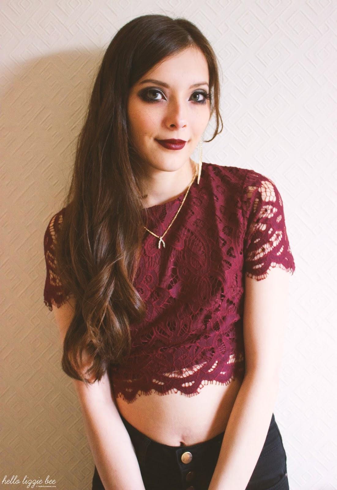 lace crop top, shop tobi, outfit post