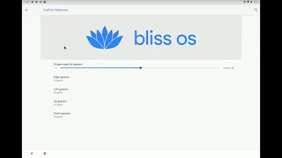 bliss Os gestures