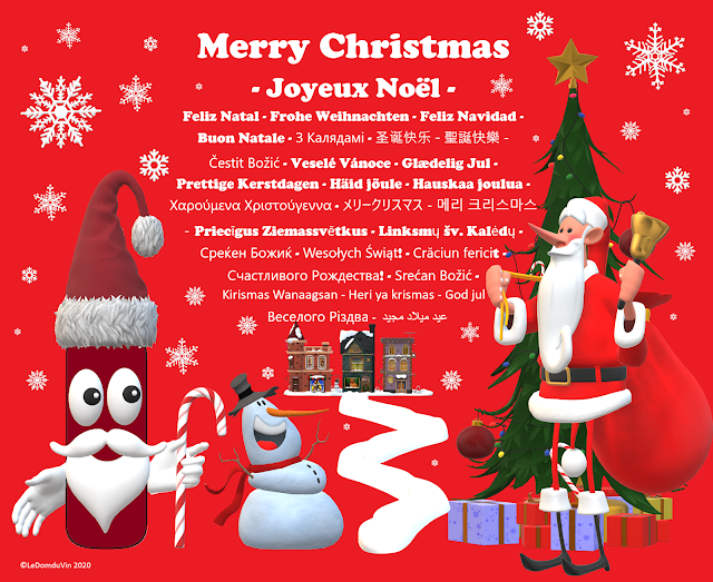 Merry Christmas and Joyeux Noel  from LeDomduVin to all of you in the world  by ©LeDomduVin 2020