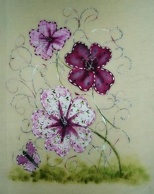 pintura em tecido capa de caderno pintada a mão
