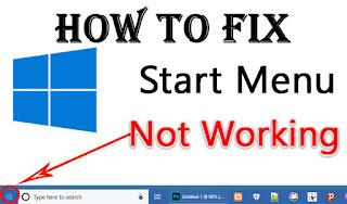How to fix start menu not working
