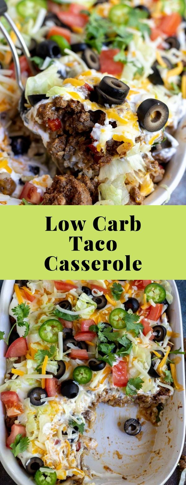 Low Carb Taco Casserole Recipe #dinner #lowcarb