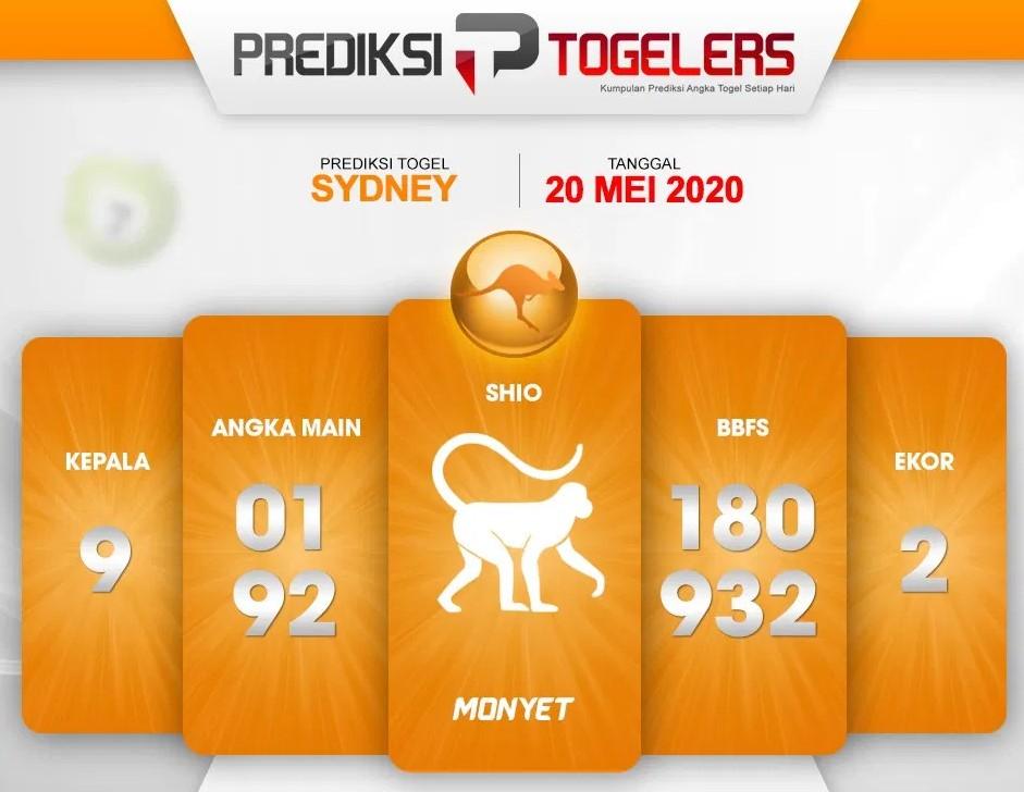 Prediksi Togel Sydney Rabu 20 Mei 2020 - Prediksi Togelers