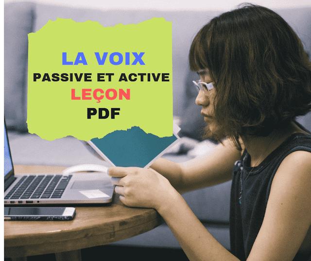 Cours en français facile : la voix passive et active- leçon