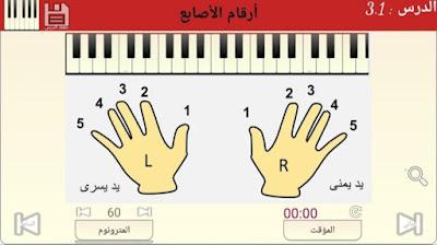 تطبيق دروس تعلم الأورغ الشرقي مع المقامات والنوتة الموسيقية
