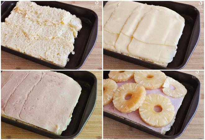 como fazer sanduíche de presunto com abacaxi