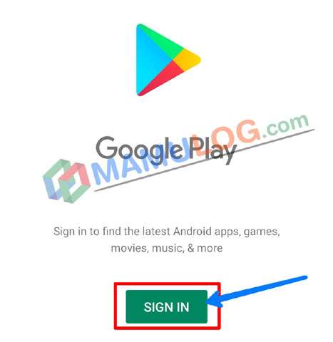 google play sign in