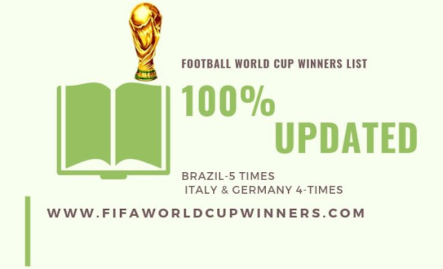 Football World Cup Winners List | Updated