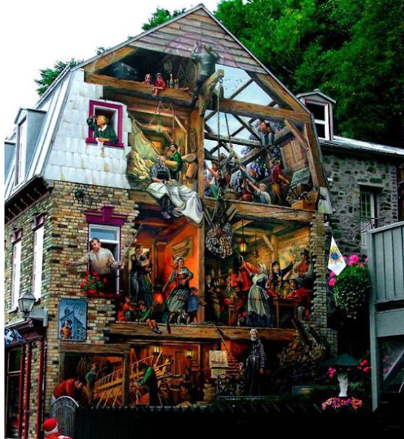 Grafiti atau Lukisan Dinding sesaknya ibukota dan penuh orang