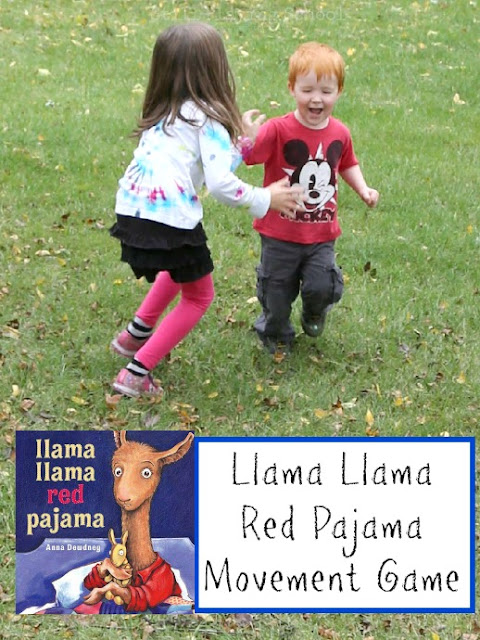 A fun chase and tag game to play after reading Llama Llama Red Pajama