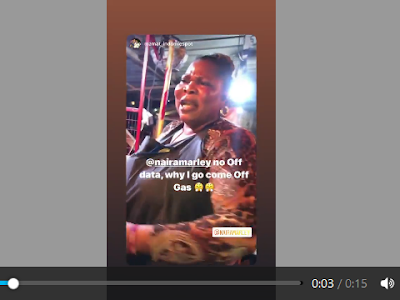 Why Will I Off My Gas When Nairamarley Dont Off Data- Lagos Food Seller. VIDEO