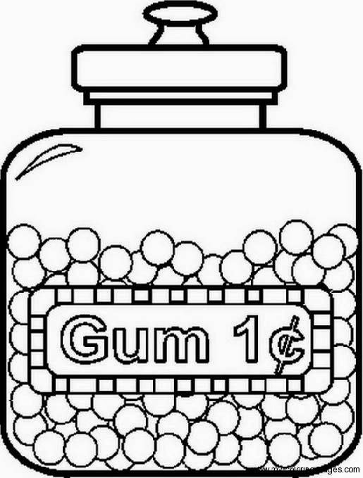 Candy Jar Coloring Page Coloring Pages