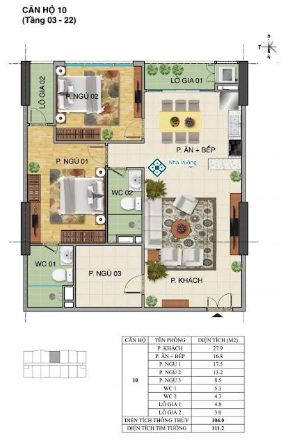Căn hộ số 10 tòa Trường An- Tràng An Complex