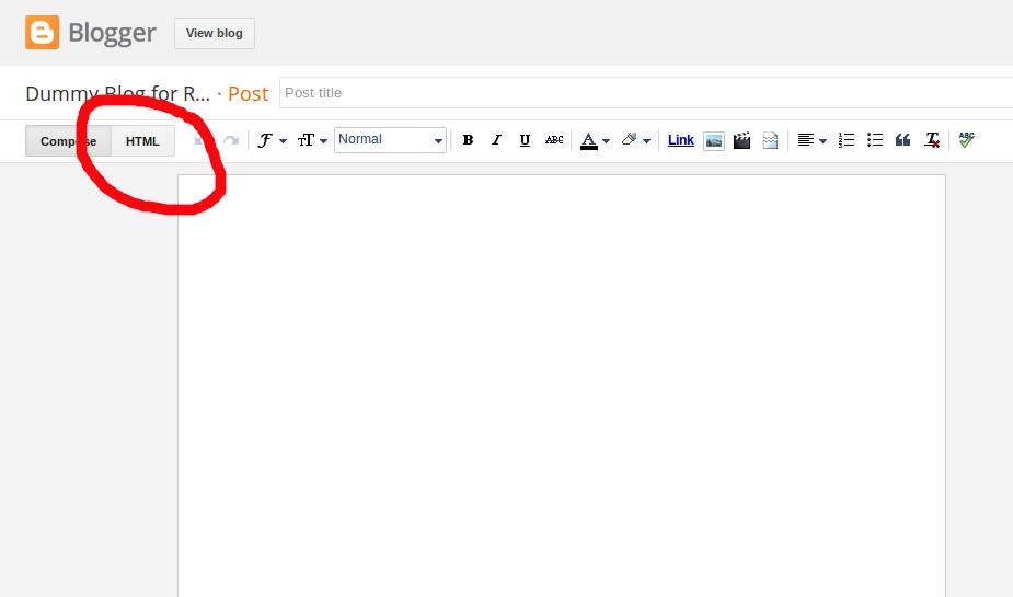 Add/Embed SVG to Blogger website