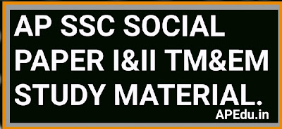 AP SSC SOCIAL STUDIES STUDY MATERIAL