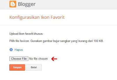 Cara Mengganti Favicon di Blog