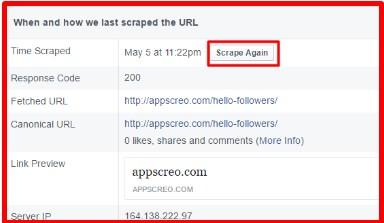 facebook debugger app