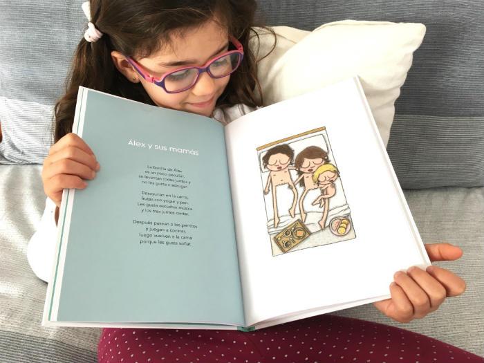 Cuento, libro infantil Familias Oh Mami Blue, diversidad familiar