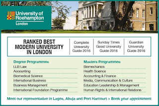 United Kingdom: Study at University of Roehampton in UK, the Best Modern University in London Visiting Nigeria