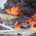 Breaking: FRSC TRAFFIC ADVISORY: BURNING TANKER ON MAGBORO BRIDGE ALONG LAGOS-IBADAN CORRIDOR