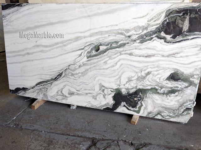Bianco Lasa Macchia Vecchia - Marble Slab