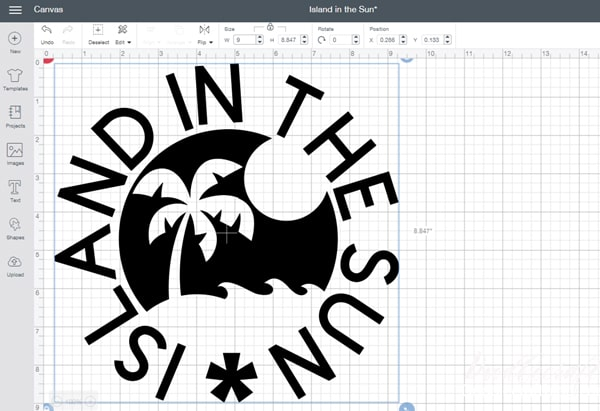 Step by Step creating a silhouette logo in Cricut Design Space for a shirt