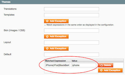 Magento add exception
