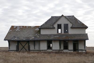 historical, train station, Tribune, Saskatchewan, abandoned