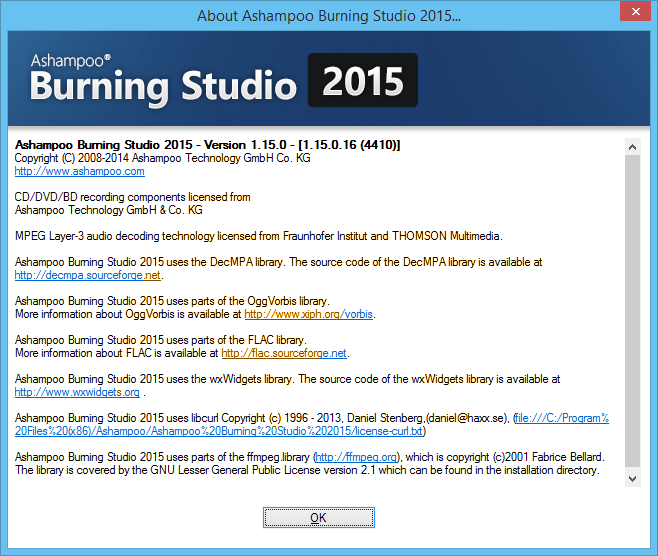 Ashampoo Burning Studio 2015 Full Key