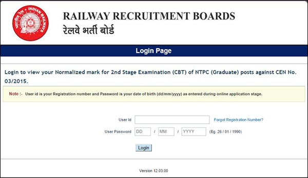 RRB NTPC Results 2018 Declared Final Exam Result in Region Wise