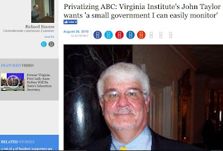 John Taylor Virginia Institute of Public Policy ABC privatization liquor law alcohol regulation