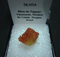 lista dos recursos minerais do estado do Sergipe