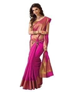 TAANSHI Women's Tassar Silk Saree for Rs.499 Only at Amazon (Next Lowest Rs.1139@ Flipkart)