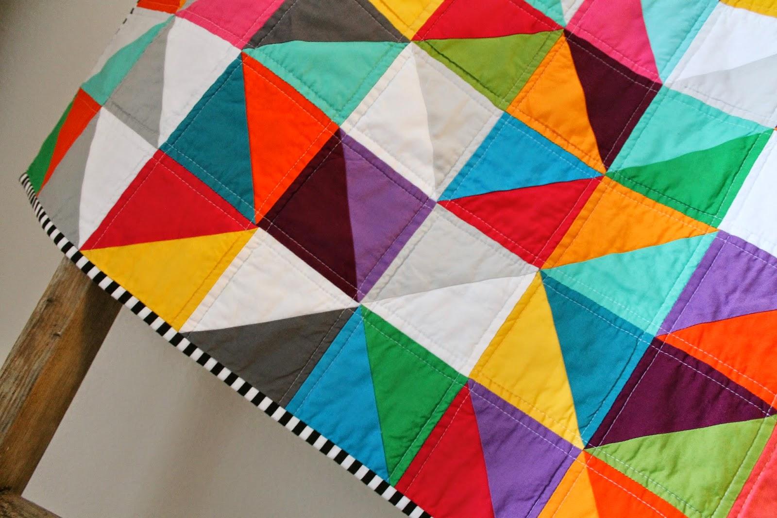 craftyblossom: rainbow baby quilt.