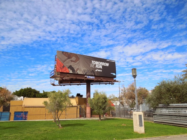 Asics Tomorrow we run billboard