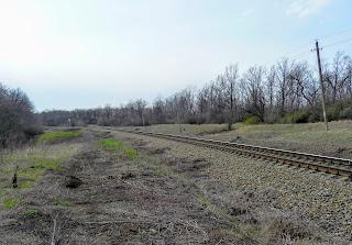 Остановочный пункт Чунишино Краснолиманской дирекции Донецкой железной дороги. Вид на юг