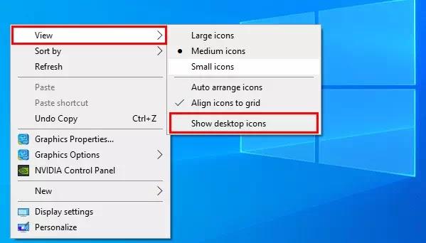 Cara Mengatasi Icon Desktop Tidak Muncul di Windows 10-2