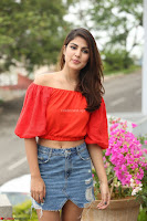 Rhea Chakraborty in Red Crop Top and Denim Shorts Spicy Pics ~  Exclusive 070.JPG