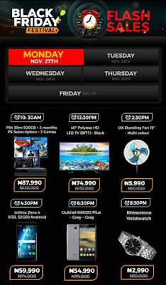 Jumia Black Friday Festival Day 15 Deals 27th November 2017