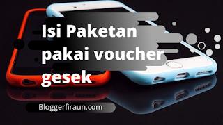 Cara mengisi kartu Telkomsel dengan voucher paket gesek